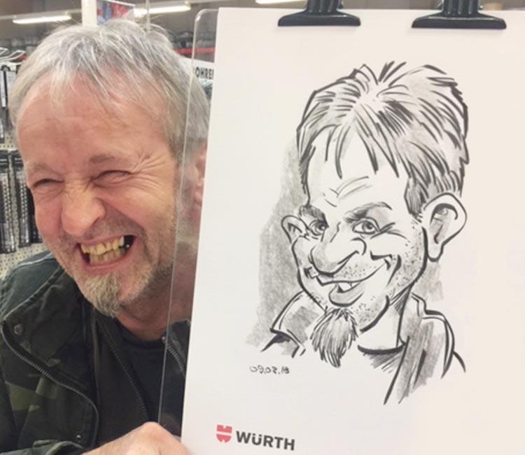 schnellzeichner Karikaturist Messe Zitzmann13